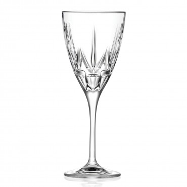 Chic Set of 6 White Wine Goblets By Lorren Home Trends