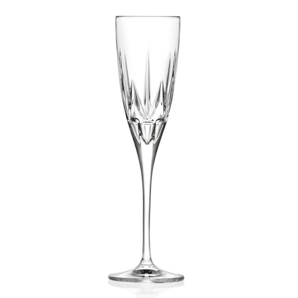 Chic Set of 6 Flute Goblets By Lorren Home Trends