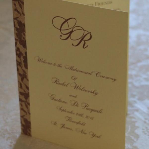 Ceremony Programs - Lace design