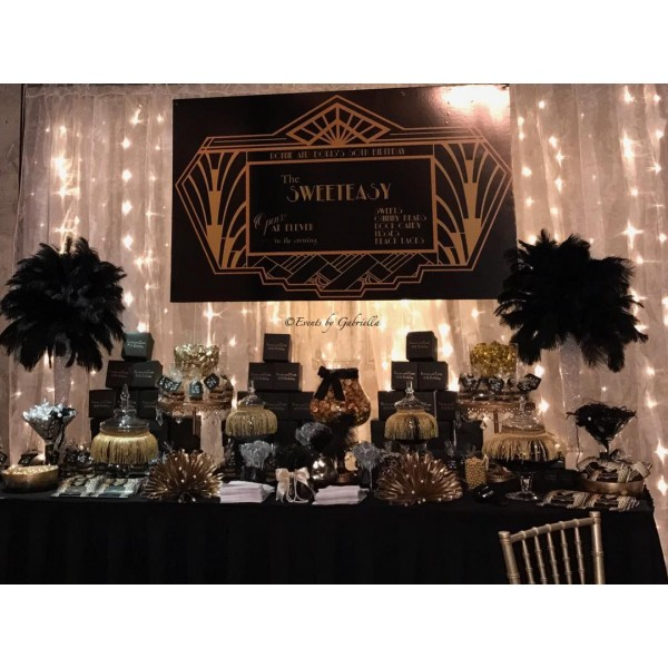 Great Gatsby Themed Candy Bar