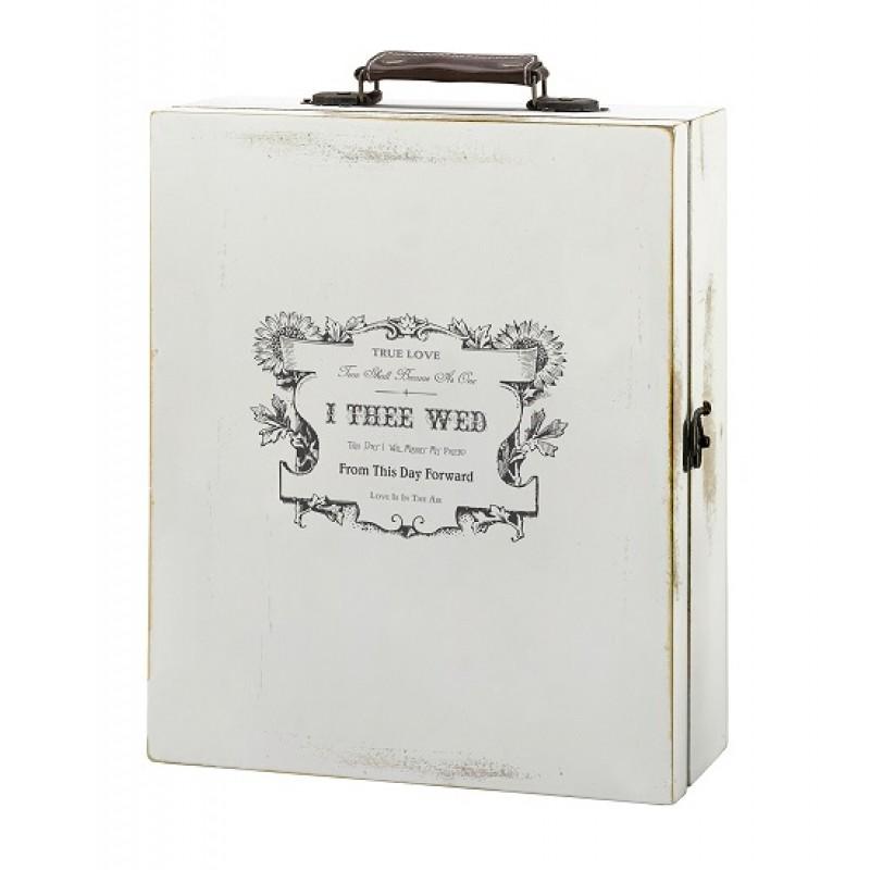 Antique White Wine Box-True Love