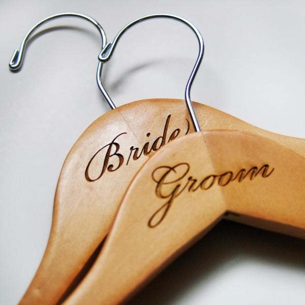 Engraved Bride & Groom Hangers