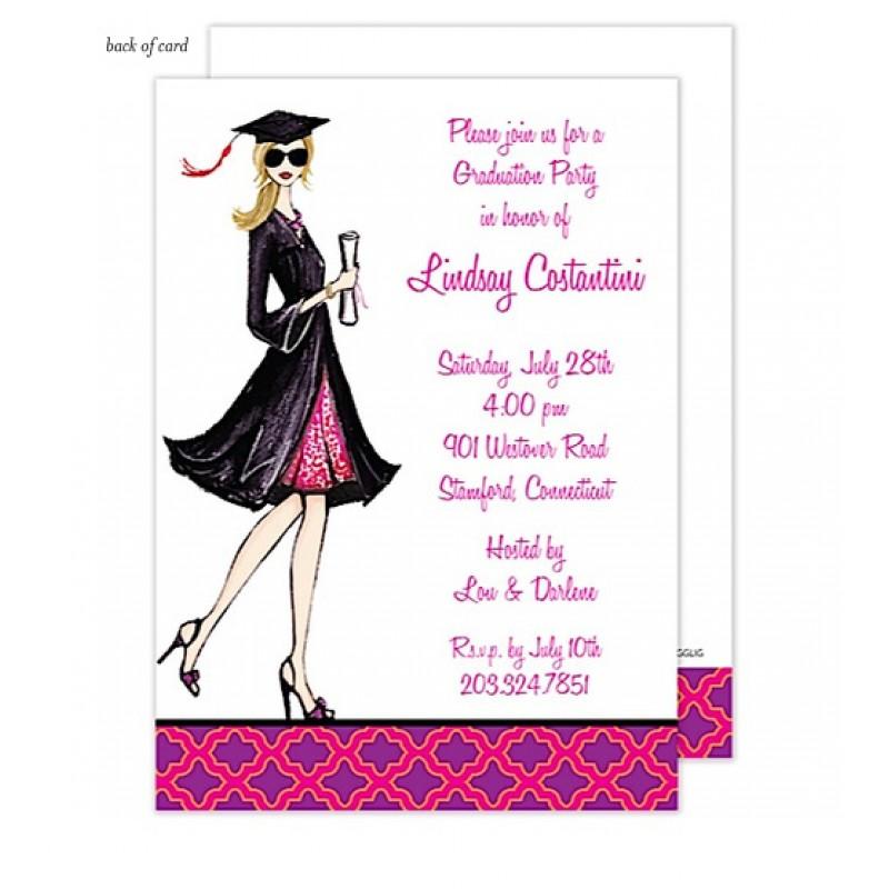 Gorgeous Grad - Blonde Invitation