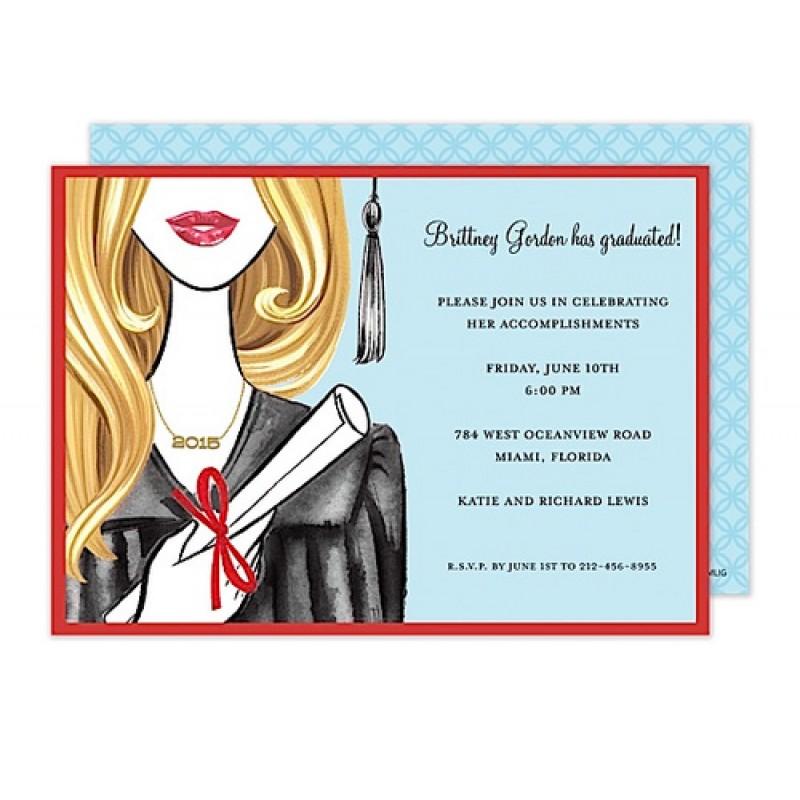Glamorous Grad - Blonde Invitation
