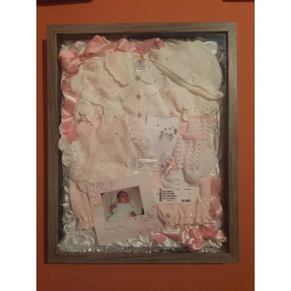 New Born outfit Shadowbox
