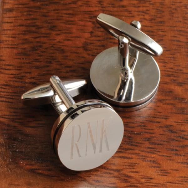 Personalized Pin Stripe Cufflinks
