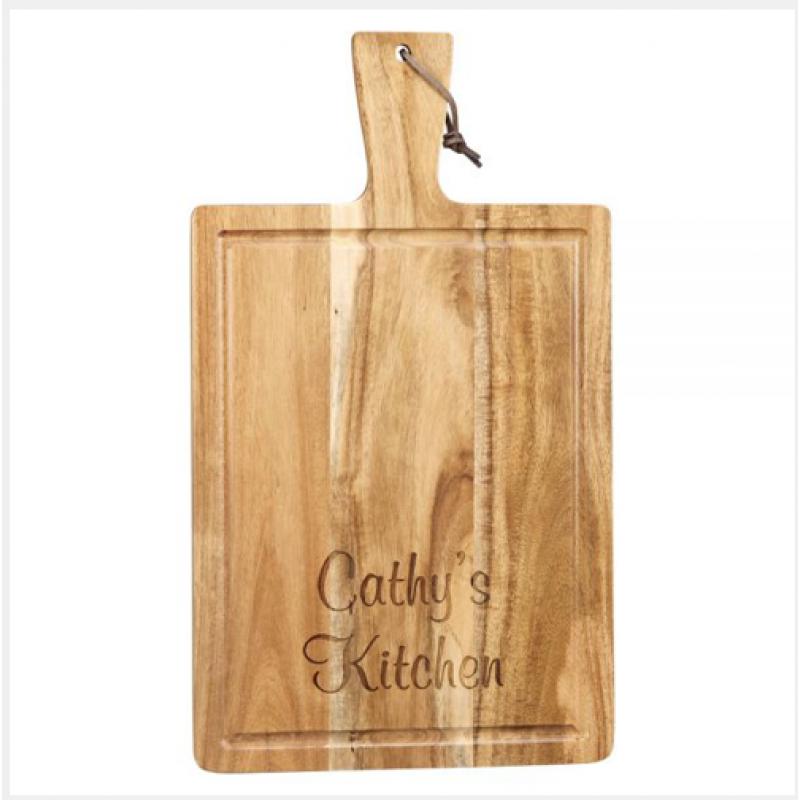 Acacia Wood Handled Cutting Board