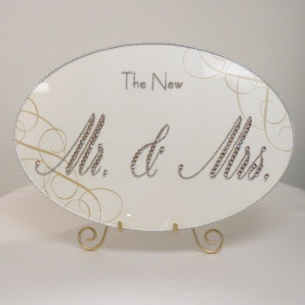 Crystal Plaque- New Mr. and Mrs.
