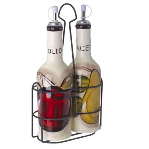 Cucina Italiana Ceramic Oil and Vinegar Cruet Set #0216-562