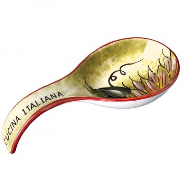 Cucina Italiana Ceramic Sunflower Design Deep 9' Spoon Rest  #0702-514