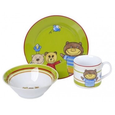 Porcelain 3 Piece Children's Cereal Set  #10100-44