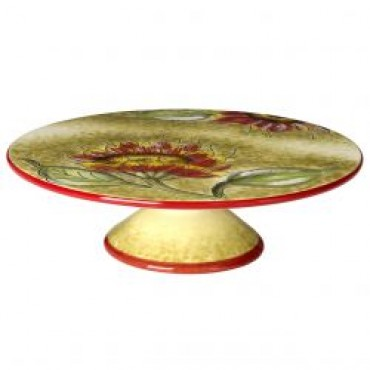 Cucina Italian Sunflower Decor Cake Plate #1449/514