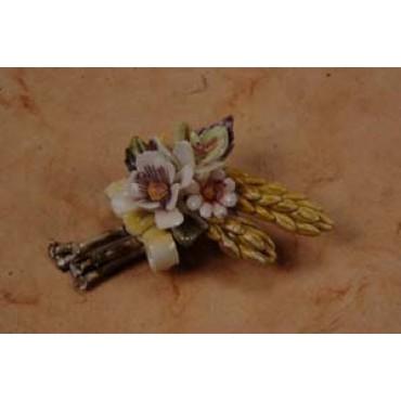 Porcelain Decorative Flower Pins Party Favors #5F567