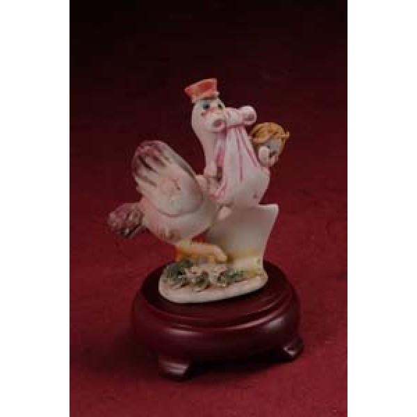 Porcelain Pink Stork Delivery Baby Party favors #6D859G