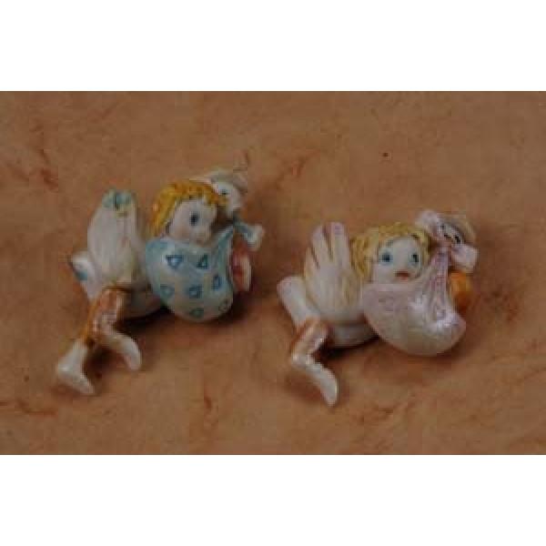 Porcelain Stork Baby Delivery Pins #7D1380