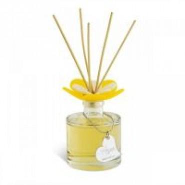 Debora Carlucci Renoir Collection Round Diffuser Bottle w/ Sweet Argan Scent and Vibrant Flower Top 3.5 oz  #DC5800