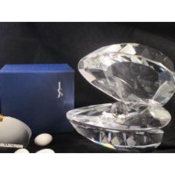 Crystal Oyster With Pearl #CR034