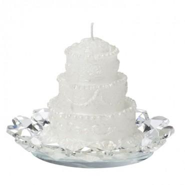 Debora Carlucci Scented Cake candle w/ Crystal Base #DC2166