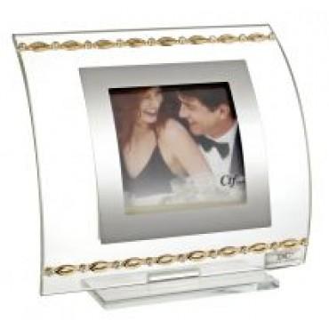 Italian Picture Frame W. Gold Links Adorned W/ Swarovski Crystal Elements #30076
