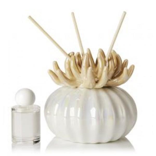Debora Carlucci Ivory Coral Diffuser W/ Frosted Porcelain Bottom #DC4989IV