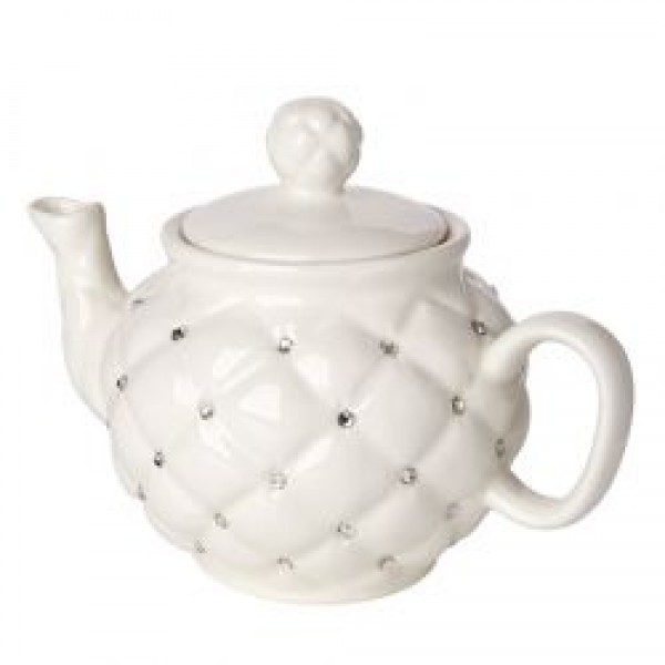Debora Carlucci Ivory Tea Pot W Rhinestones #34024