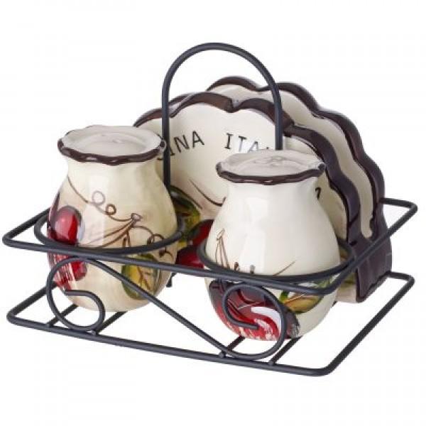 Cucina Italiana Ceramic 3 Piece Kitchen Condiment Set #1195-562