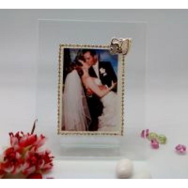 Italian 50th Anniversary Picture Frame w. Swarovski Crystal #30607