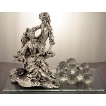 Italian 925 Silver Newlyweds Figurine w/ Swarovski Crystals #30682