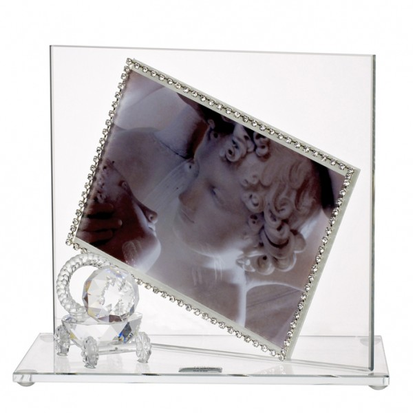 Baby Photo Frame with Swarovski Crystal border and Crystal Pacifier #32754