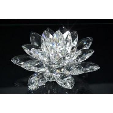 Italian Crystal Lotus w. Swarovski Crystals