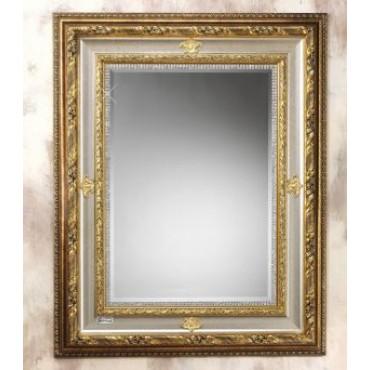 Wall Mirror w. Swarovski Crystals Border in Gold Trim #20205
