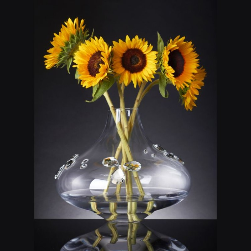 Debora Carlucci Clear Vase w Crystals