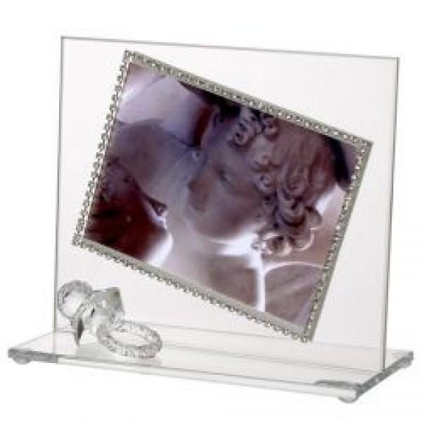 Baby Photo Frame with Swarovski Crystal border and Crystal Stroller #32755