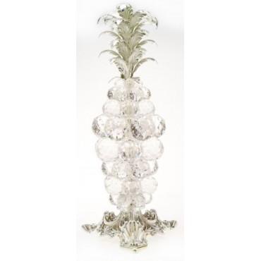 Swarovski Crystal Pineapple with 925 Silver Leaf #18988
