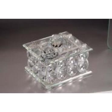 Italian Crystal Jewelry Box w. Swarovski crystals