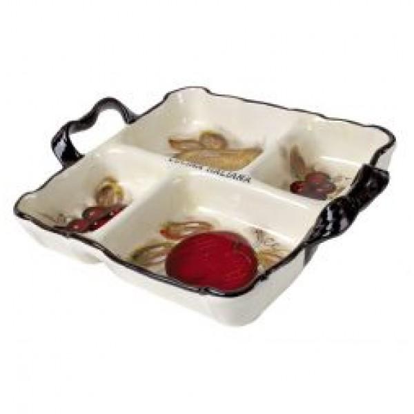 Cucina Italiana Ceramic 4 Section Serving Tray #1300-562